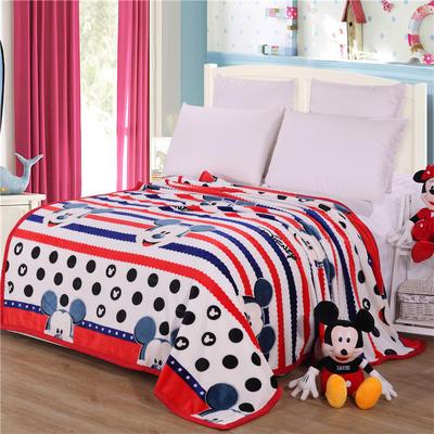 雪貂绒(每平方300克)毛毯毯子 120*200 童年