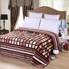 沐恩毯业 雪貂绒(每平方300克)毛毯毯子 120*200 香格里拉
