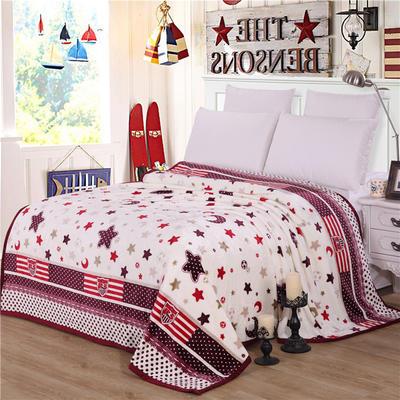 雪貂绒(每平方300克)毛毯毯子 120*200 星点印象