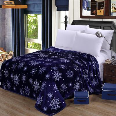雪貂绒(每平方300克)毛毯毯子 120*200 雪花