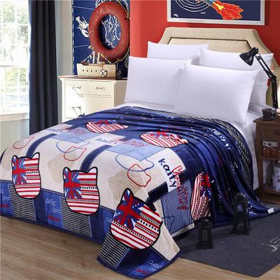 雪貂绒(每平方300克)毛毯毯子 120*200 英伦KT