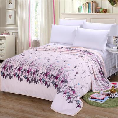 雪貂绒(每平方300克)毛毯毯子 120*200 优雅花香