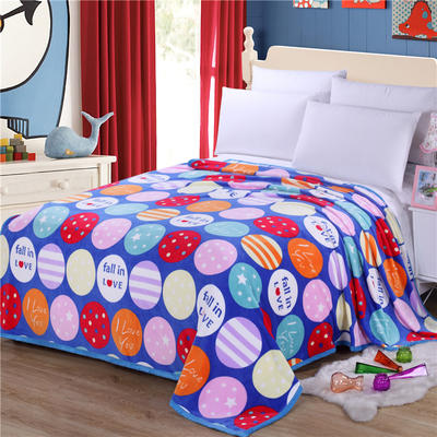 雪貂绒(每平方300克)毛毯毯子 120*200 圆来幸福