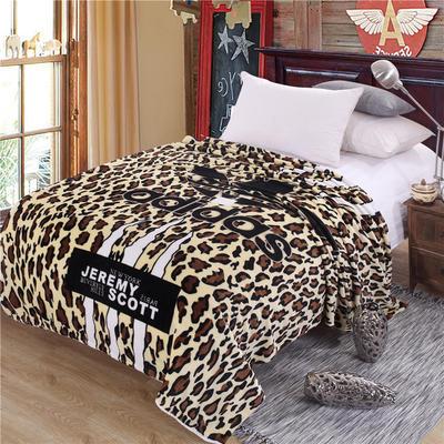 雪貂绒定位毯(每平方280克)毛毯毯子 150*200 阿迪