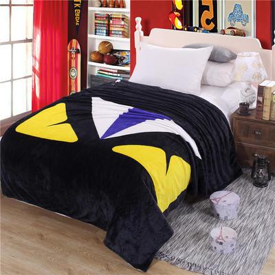 雪貂绒定位毯(每平方280克)毛毯毯子 150*200 萌兽