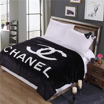 沐恩毯业 雪貂绒定位毯(每平方280克)毛毯 150*200 小香
