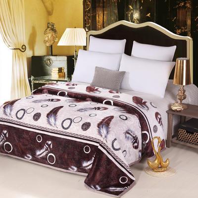 云貂绒(每平方380克)毛毯毯子 120*200 凤凰羽毛