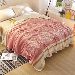 新品 法莱绒(每平方200克)毛毯毯子 120*200 花香