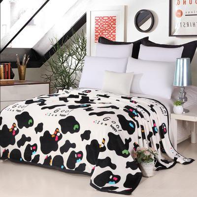 2018新款-云貂绒毛毯毯子 120*200cm 多彩奶牛