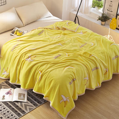 2018新款-云貂绒毛毯毯子 120*200cm 香蕉