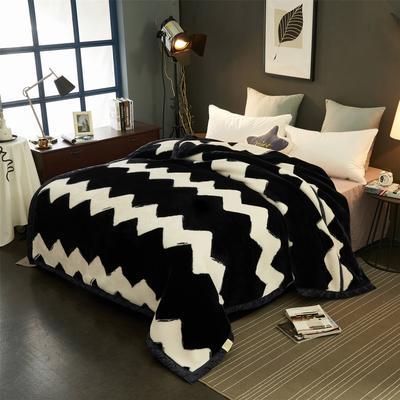 2018新款-拉舍尔毛毯毯子 150*200cm4斤 大波浪