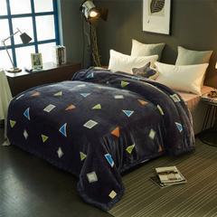 2018新款-拉舍尔毛毯毯子 150*200cm4斤 多彩几何
