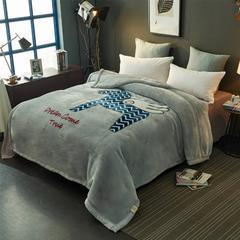 2018新款-拉舍尔毛毯毯子 150*200cm4斤 快来小马