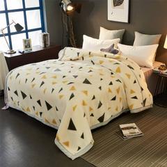 2018新款-拉舍尔毛毯毯子 180*220cm6斤 小三角