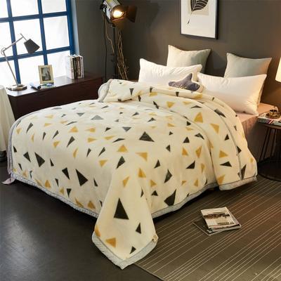 2018新款-拉舍尔毛毯毯子 150*200cm4斤 小三角