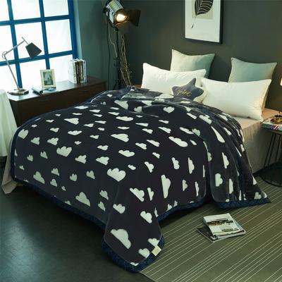 2018新款-拉舍尔毛毯毯子 150*200cm4斤 小云朵
