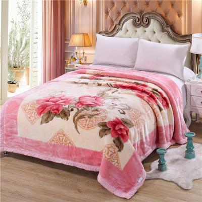2018新款-拉舍尔毛毯毯子 150*200cm4斤 粉色佳人