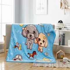 2018新款-童毯毯子 100*125cm 快乐小狗