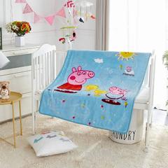2018新款-童毯毯子 100*125cm 佩奇