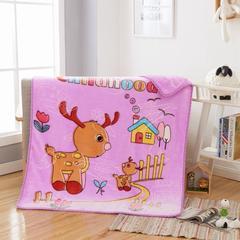 2018新款-童毯毯子 100*125cm 小鹿