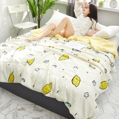 2019新款-小花边水洗棉夏被 150x200cm 一只柠檬
