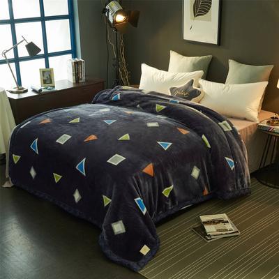 2019新款超柔拉舍尔毛毯 150*200(4斤) 多彩几何