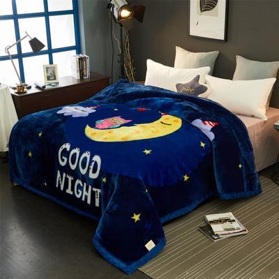 2019新款超柔拉舍尔毛毯 150*200(4斤) 晚安