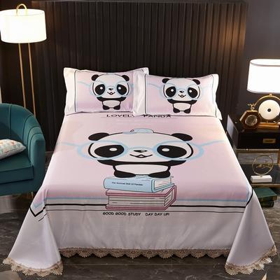 2020新款大版可水洗花边冰丝凉席 250*250cm 熊猫