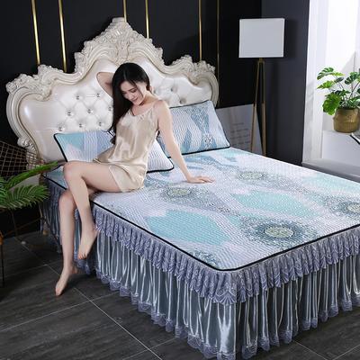 2020新款冰感丝乳胶凉席床裙可拆洗 90*200cm 罗马
