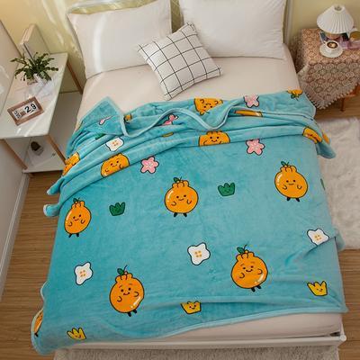 2020新款云貂绒毛毯 150*200cm 橙子