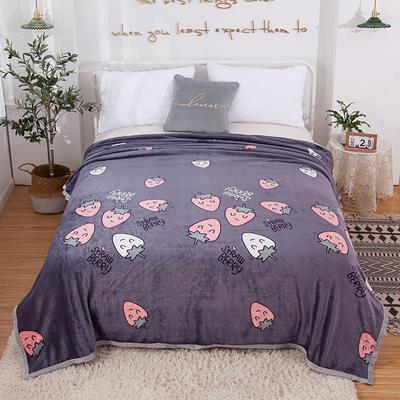 2020新款雪貂绒毛毯 150*200cm 灰草莓