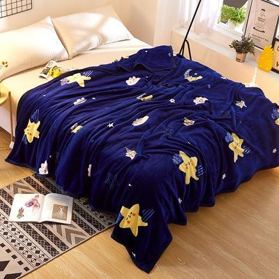 2020新款雪貂绒毛毯 150*200cm 晚安