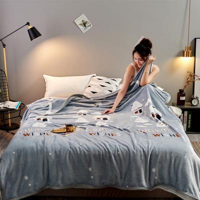2020新款雪貂绒毛毯 150*200cm 温馨小屋