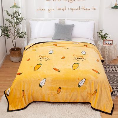 2020新款雪貂绒毛毯 150*200cm 小萝卜