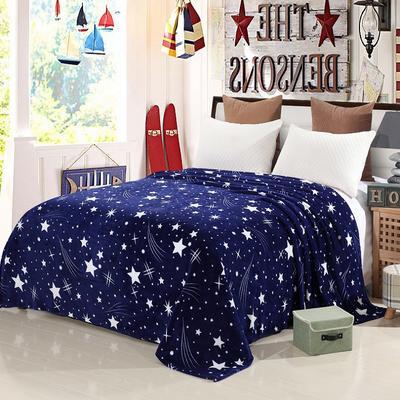 2020新款法莱绒毛毯 150*200cm 璀璨星空