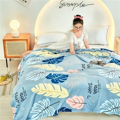 2020新款法莱绒毛毯 150*200cm 荷塘月色