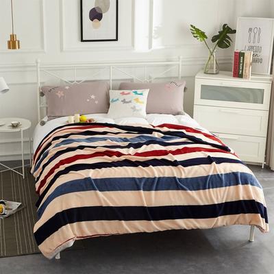 2020新款法莱绒毛毯 150*200cm 简约条格
