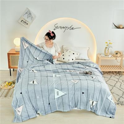 2020新款法莱绒毛毯 150*200cm 小三角