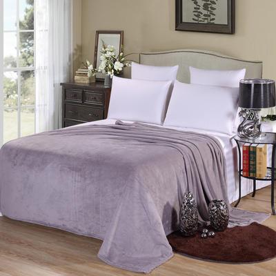 2020新款法莱绒毛毯 150*200cm 银灰