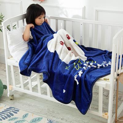 2020新款金貂绒儿童毛毯 1.0*1.4m 皇冠熊