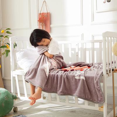2020新款金貂绒儿童毛毯 1.0*1.4m 猫头鹰