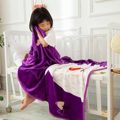 2020新款金貂绒儿童毛毯 1.0*1.4m 睡睡熊
