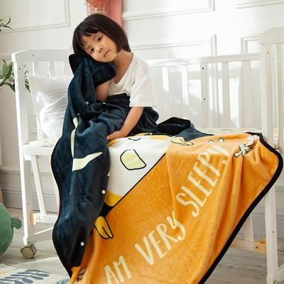 2020新款金貂绒儿童毛毯 1.0*1.4m 睡鹰