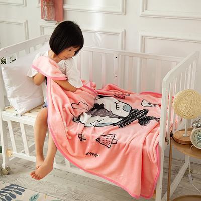 2020新款金貂绒儿童毛毯 1.0*1.4m 小狐狸