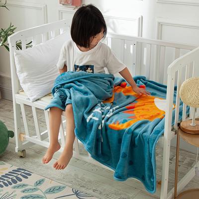 2020新款金貂绒儿童毛毯 1.0*1.4m 小恐龙