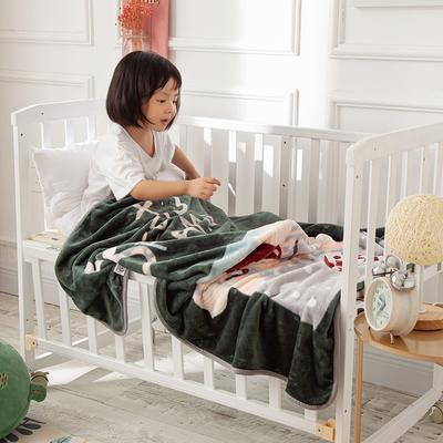 2020新款金貂绒儿童毛毯 1.0*1.4m 小女孩