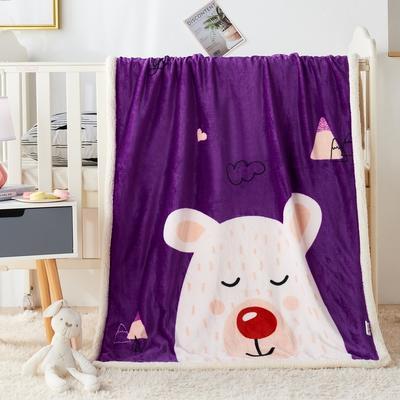 2020新款羊羔绒双层童毯 95*135cm 睡睡熊