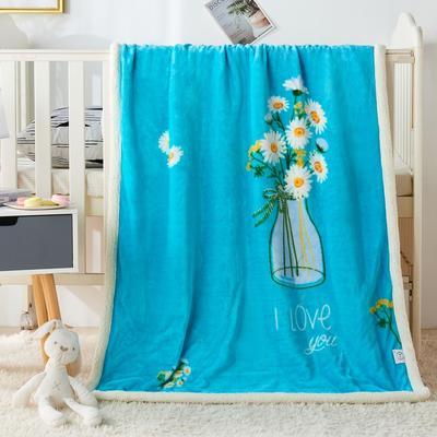2020新款羊羔绒双层童毯 95*135cm 一束花