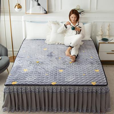 2020新款法莱绒夹棉床裙 120*200cm 菠萝