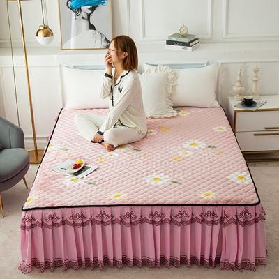 2020新款法莱绒夹棉床裙 120*200cm 花语